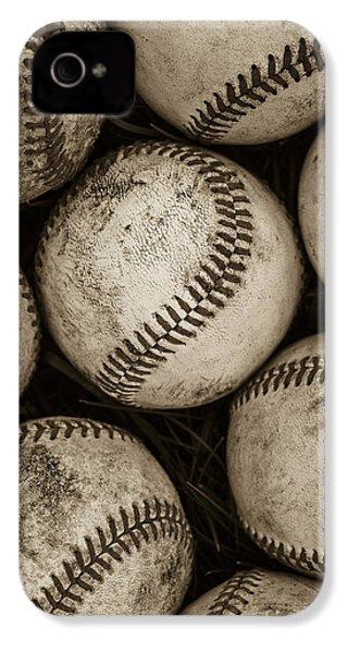 Baseballs IPhone 4 Case by Diane Diederich