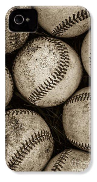 Baseballs IPhone 4 / 4s Case by Diane Diederich