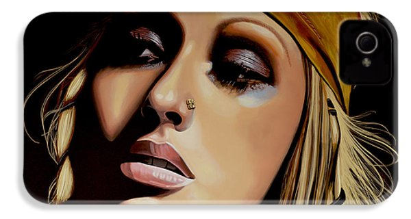 Christina Aguilera Painting IPhone 4 / 4s Case by Paul Meijering