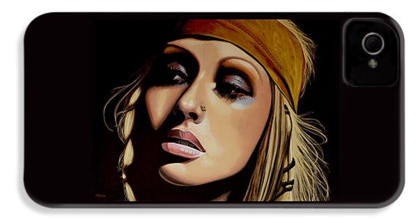 Christina Aguilera Painting IPhone 4 Case by Paul Meijering