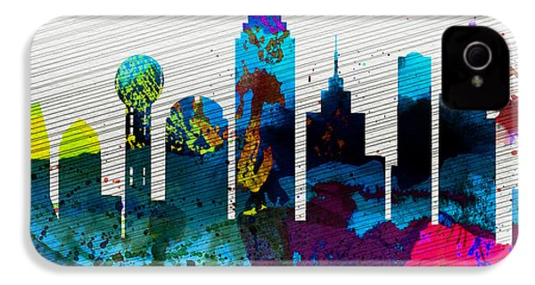 Dallas City Skyline IPhone 4 Case by Naxart Studio