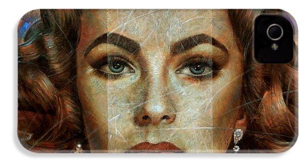 Elizabeth Taylor IPhone 4 Case by Arthur Braginsky