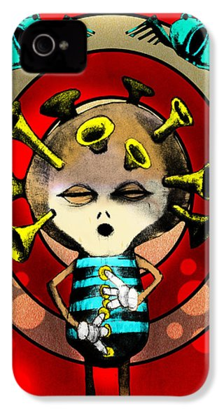 Jazzplayer IPhone 4 Case by Johan Lilja