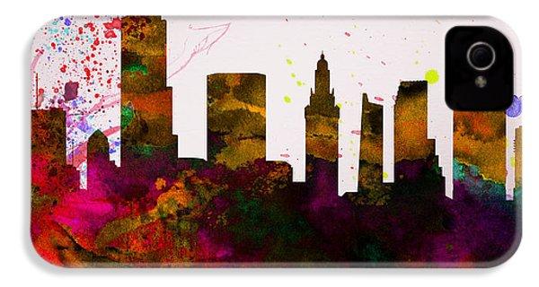 Miami City Skyline IPhone 4 / 4s Case by Naxart Studio