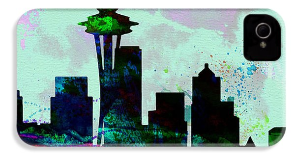 Seattle City Skyline IPhone 4 / 4s Case by Naxart Studio