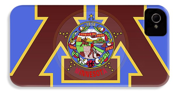 U Of M Minnesota State Flag IPhone 4 Case by Daniel Hagerman