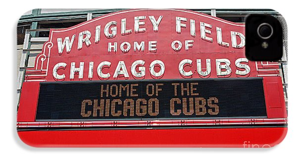 0334 Wrigley Field IPhone 4 / 4s Case by Steve Sturgill