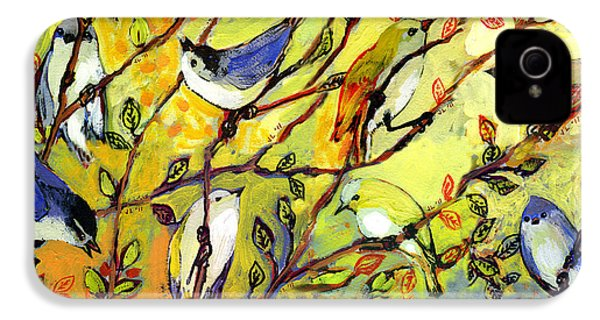 16 Birds IPhone 4 Case by Jennifer Lommers