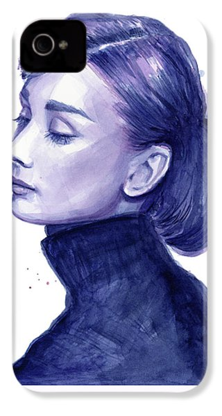 Audrey Hepburn Portrait IPhone 4 Case