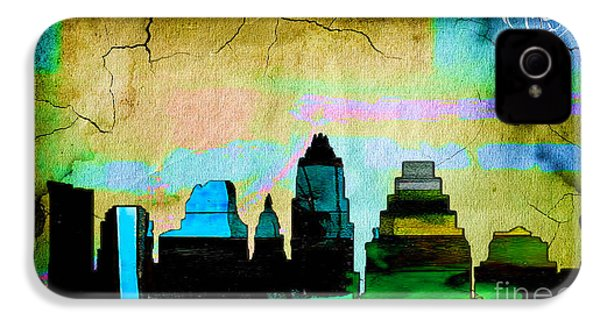 Austin Skyline Watercolor IPhone 4 Case by Marvin Blaine