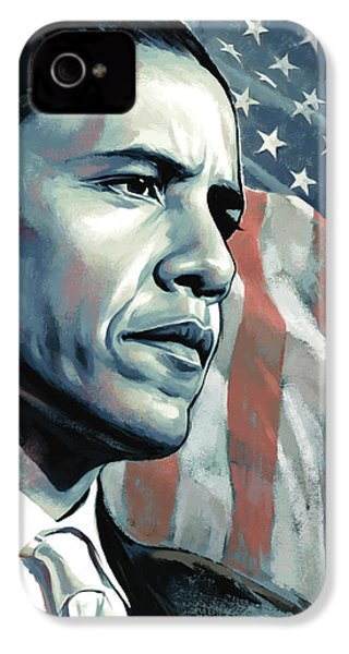 Barack Obama Artwork 2 IPhone 4 Case by Sheraz A