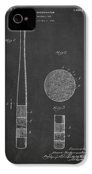 Baseball Bat Patent Drawing From 1920 IPhone 4 Case by Aged Pixel