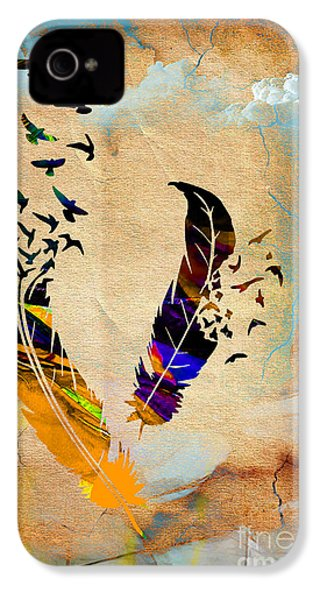 Birds Of A Feather IPhone 4 / 4s Case by Marvin Blaine