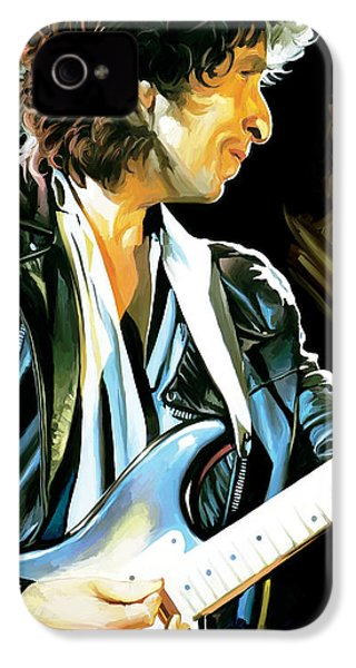Bob Dylan Artwork 2 IPhone 4 Case by Sheraz A