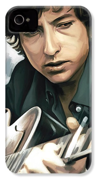 Bob Dylan Artwork IPhone 4 Case by Sheraz A