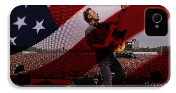 Bruce Springsteen IPhone 4 Case by Marvin Blaine
