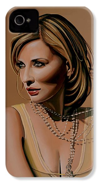 Cate Blanchett Painting  IPhone 4 Case