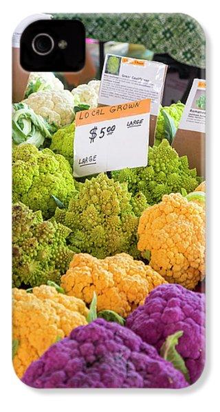 Cauliflower Market Stall IPhone 4 Case by Jim West