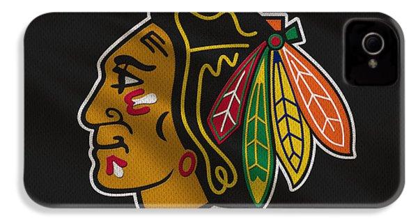 Chicago Blackhawks Uniform IPhone 4 Case by Joe Hamilton