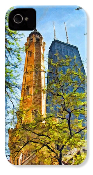 Chicago Water And Hancock Towers IPhone 4 Case by Christopher Arndt