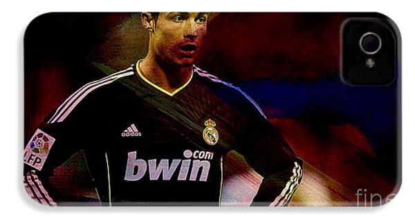 Cristiano Ronaldo IPhone 4 Case by Marvin Blaine