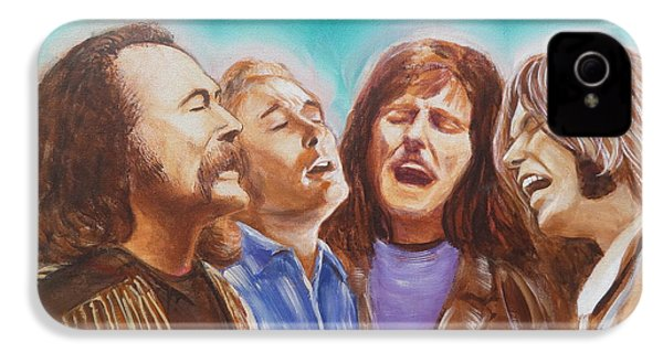 Crosby Stills Nash And Young IPhone 4 / 4s Case by Kean Butterfield