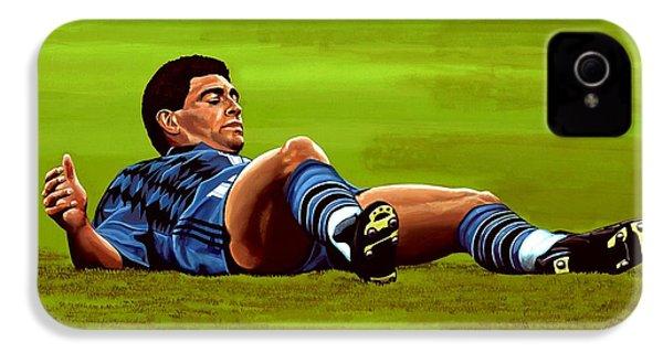 Diego Maradona 2 IPhone 4 Case by Paul Meijering