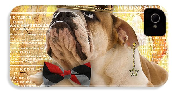 English Bulldog Bowtie Collection IPhone 4 Case by Marvin Blaine