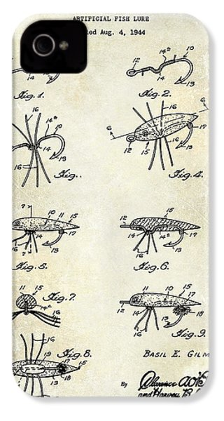 Fishing Lure Patent  IPhone 4 Case