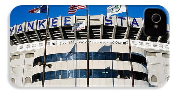 Flags In Front Of A Stadium, Yankee IPhone 4 Case by Panoramic Images