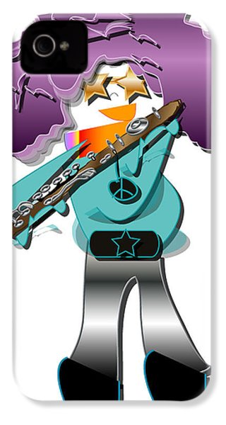 IPhone 4 Case featuring the digital art Flute Player by Marvin Blaine