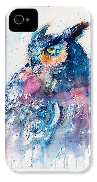 Great Horned Owl IPhone 4 Case by Kovacs Anna Brigitta