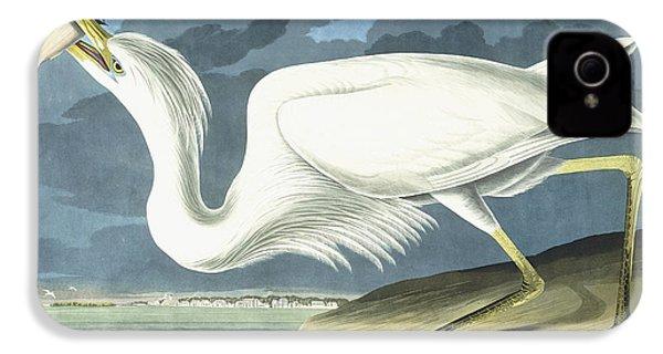 Great White Heron IPhone 4 Case by John James Audubon