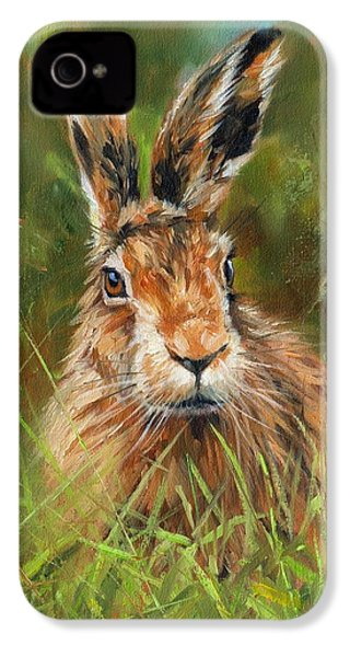 hARE IPhone 4 Case by David Stribbling