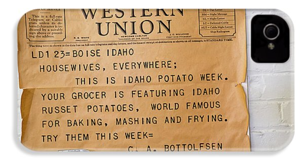 Idaho Potato Museum IPhone 4 Case by Jim West