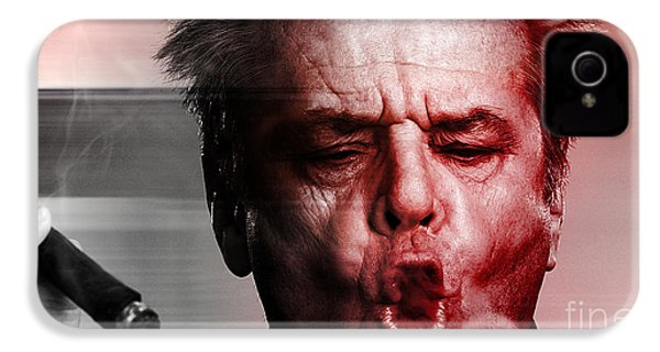 Jack Nicholson IPhone 4 / 4s Case by Marvin Blaine