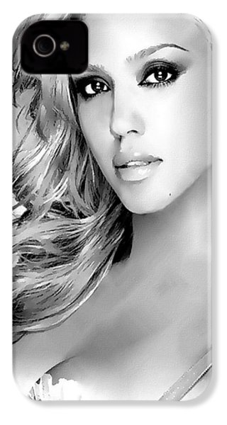 #1 Jessica Alba IPhone 4 Case by Alan Armstrong