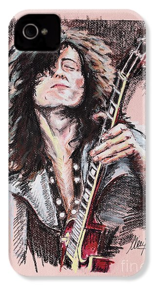 Jimmy Page IPhone 4 Case by Melanie D