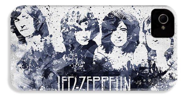 Led Zeppelin Portrait IPhone 4 Case by Aged Pixel