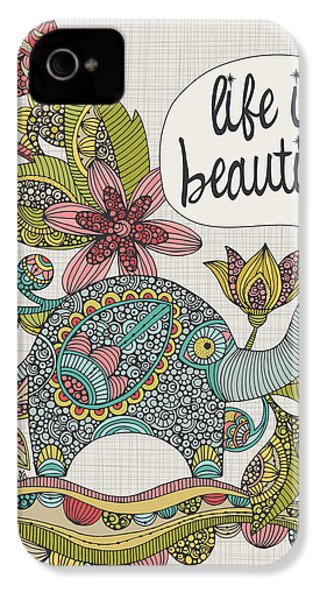 Life Is Beautiful IPhone 4 Case