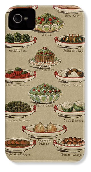 Mrs. Beeton's Family Cookery And Housekee IPhone 4 / 4s Case by British Library