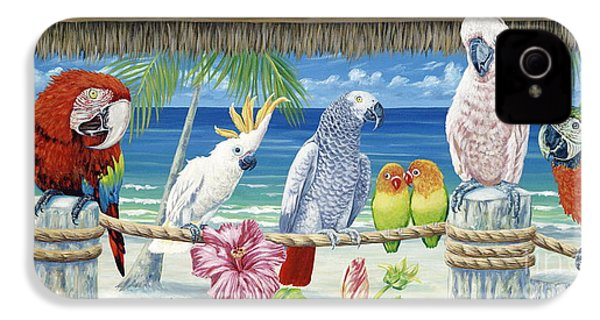 Parrots In Paradise IPhone 4 Case by Danielle  Perry