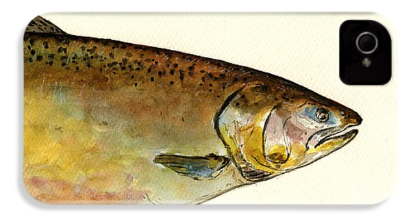 1 Part Chinook King Salmon IPhone 4 / 4s Case by Juan  Bosco