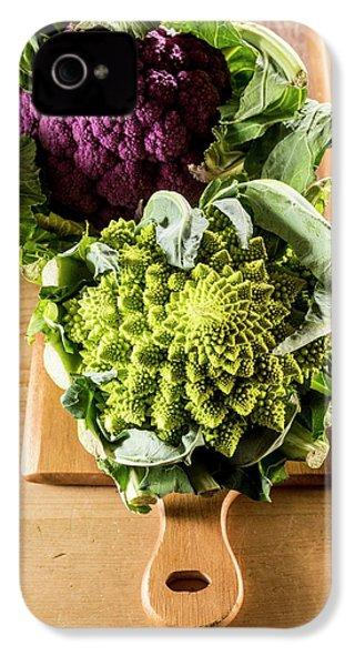 Purple And Romanesque Cauliflowers IPhone 4 Case by Aberration Films Ltd