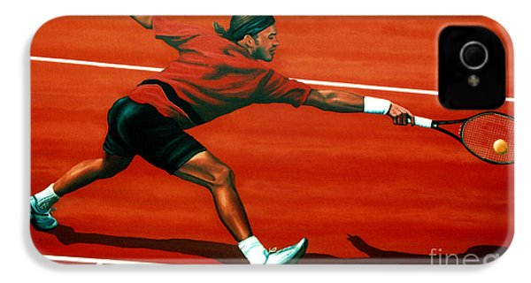 Roger Federer At Roland Garros IPhone 4 / 4s Case by Paul Meijering