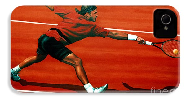 Roger Federer At Roland Garros IPhone 4 Case by Paul Meijering
