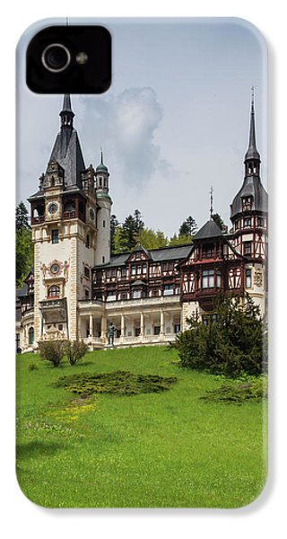 Romania, Transylvania, Sinaia, Peles IPhone 4 Case by Walter Bibikow