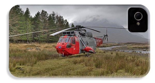 Royal Navy Sar Sea King Xz920 Glencoe IPhone 4 Case