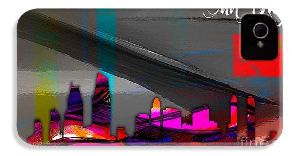 San Diego California Skyline Watercolor IPhone 4 Case by Marvin Blaine