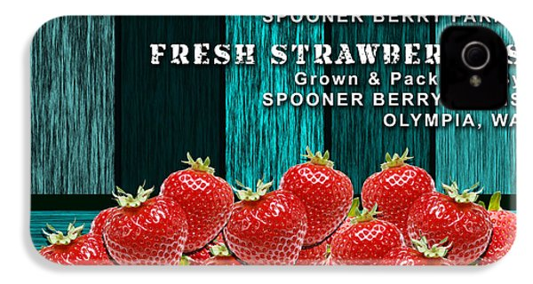 Strawberry Farm IPhone 4 Case by Marvin Blaine